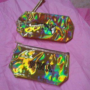 Victoria's Secret PINK Matching Set Makeup Bags
